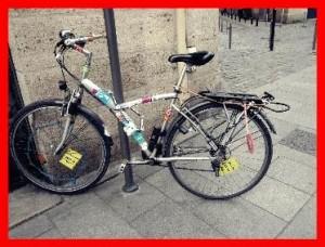 vélo mal stationné